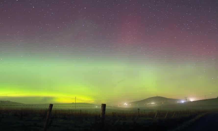The northern lights over Shetland.