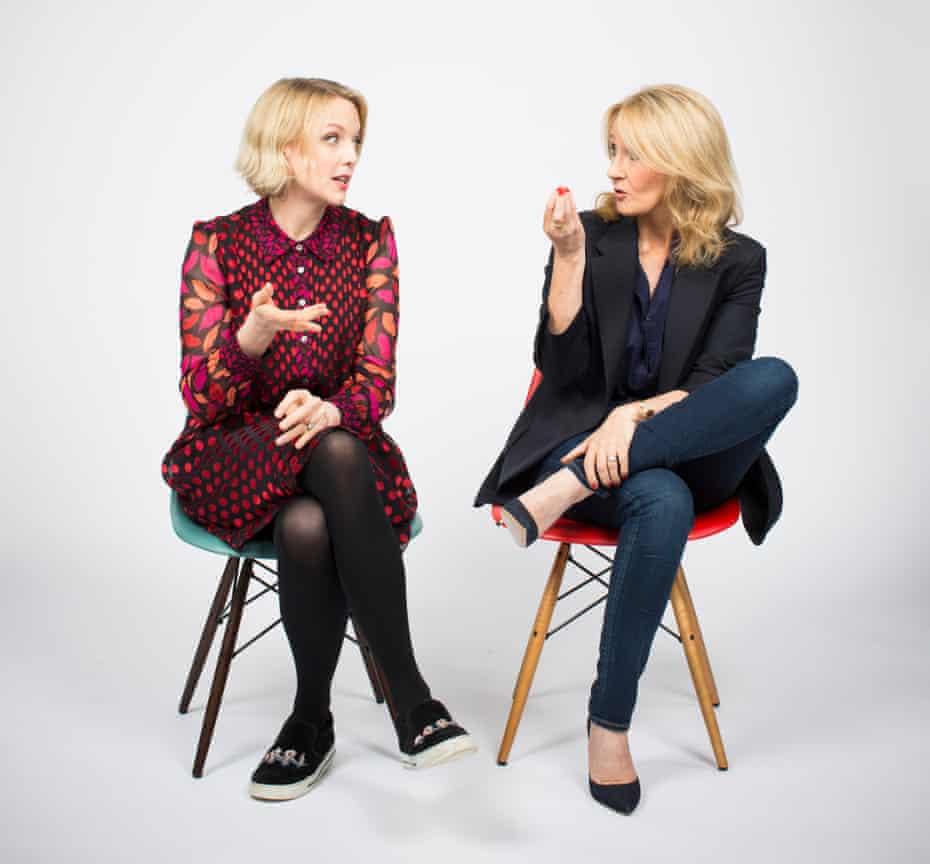 Lauren Laverne and JK Rowling