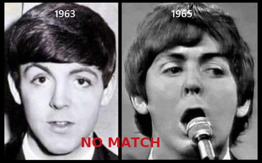 Paul McCartney's eyebrows analysed by Thebeatlesneverexisted.com