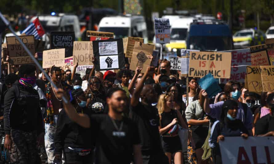 A Black Lives Matter protest on 12 July, 2020 in London.