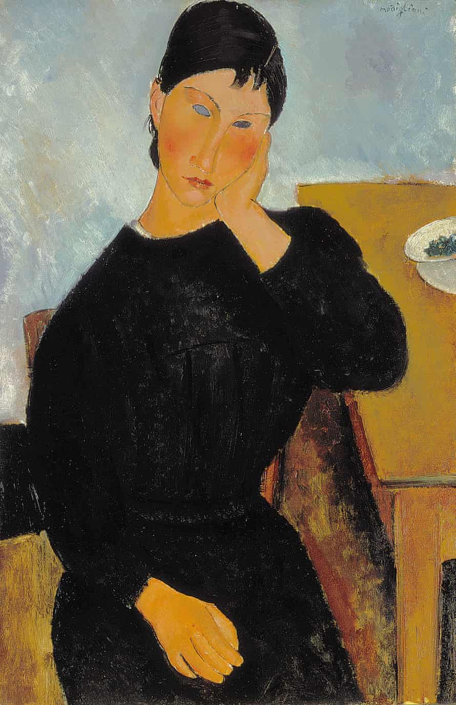 Elvira Resting at a Table, 1919 by Amedeo Modigliani.