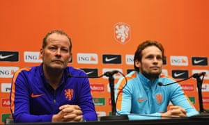 The Holland manager, Danny Blind, and his son, Daley,