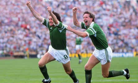 Ray Houghton and Ronnie Whelan