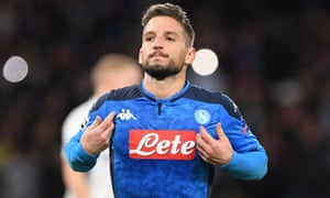 Dries Mertens will be out of contract at Napoli at the end of the season.