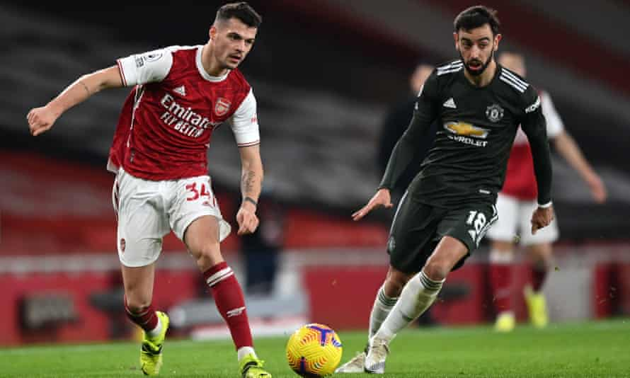 Arsenal take on Manchester United in the Premier League last month. Both clubs' away legs in the Europa League have been moved.