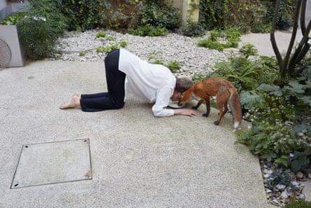 Charlotte Rampling with fox.