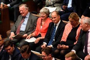Like Barbara Windsor leaving the Queen Vic … expelled Conservative MP Kenneth Clarke, far left, in the House of Commons.