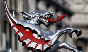 A dragon guarding the City of London