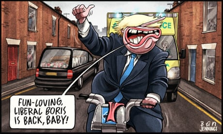 Ben Jennings on Boris Johnson after Cummings' departure – cartoon
