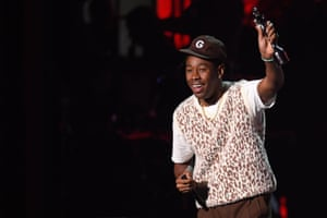 American performer Tyler, The Creator wins the Brit for best international male solo artist.