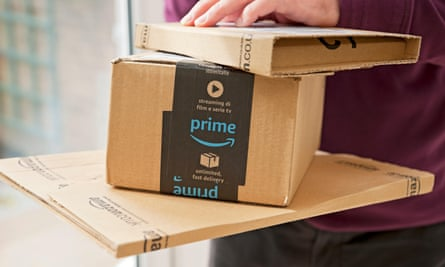 An Amazon Prime package.