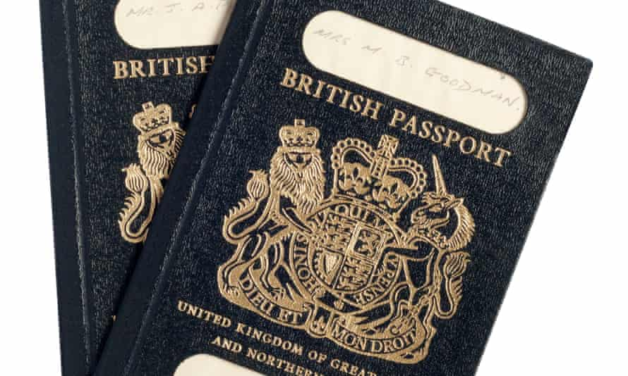 These British passports, issued in the 1980s, were neither a classic navy nor black.