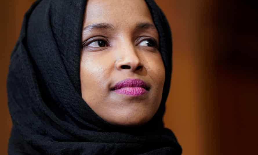 Ilhan Omar wrote on Twitter: 'The GOP's anti-Muslim display likening me to a terrorist rocks in state capitols and no one is condemning them!'