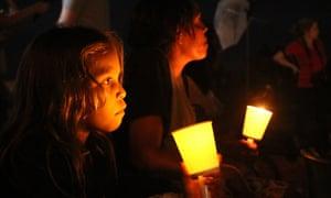 A vigil outside Don Dale juvenile detention centre in Darwin