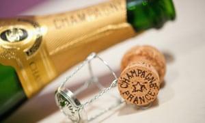 A champagne bottle