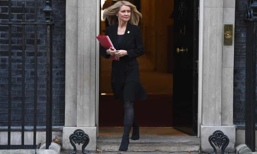 Esther McVey has resigned as work and pensions minister.