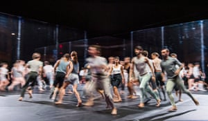 For Four Walls by the CCN-Ballet de Lorraine, part of The Future Bursts In at the Linbury theatre.