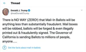 Twitter adds fact-check warning to Trump tweet.