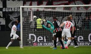 Almamy Touré's strike arrows into the top corner.