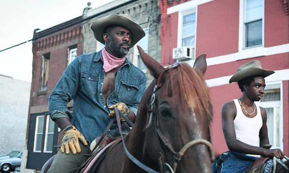 Idris Elba and Caleb McLaughlin in Concrete Cowboy.