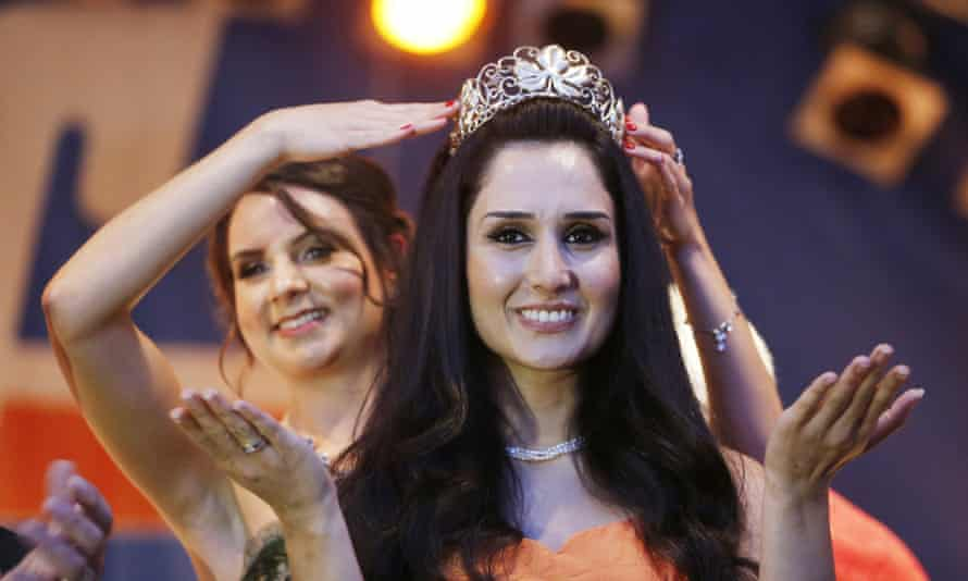 Ninorta Banho is crowned as the wine queen of Trier in southern Germany