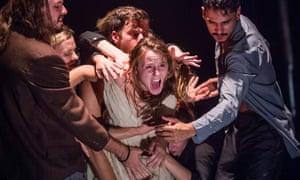Women take the punches ... Jasmin Vardimon Company performing Medusa.