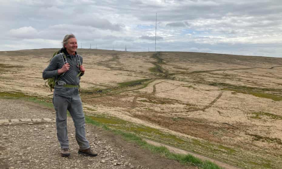 Writer Chris Moss on Winter Hill, with its many communications masts.