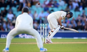 Jos Buttler edges to Virat Kohli at slip but is given not out on umpire review.