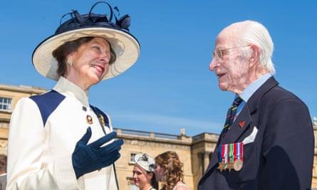 Immunologist William Frankland meets Princess Anne