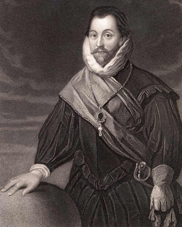 British explorer Sir Francis Drake, 1540-1596, who circumnavigated the globe.