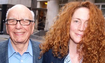 Rupert Murdoch with Rebekah Brooks in 2011.