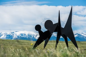 Alexander Calder, Two Discs, 1965, installed at Tippet Rise Art Center. On loan from the Hirshhorn Museum and Sculpture Garden. Photo by Andre Costantini