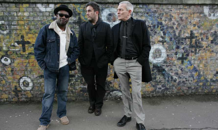 A 2009 photograph of Ska band The Specials with (from left) Lynval Golding, Terry Hall, John Bradbury
