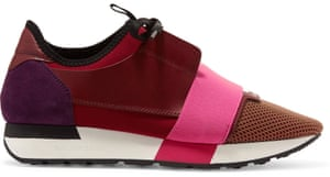 Sneakers, £395, by Balenciaga from Net-a-Porter