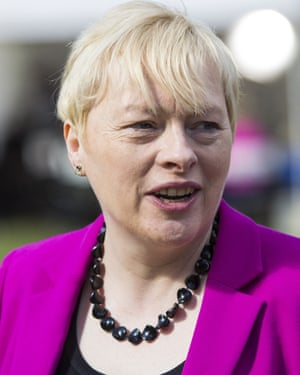 Labour leadership contender Angela Eagle pictured on College Green in Westminster on July 14, 2016