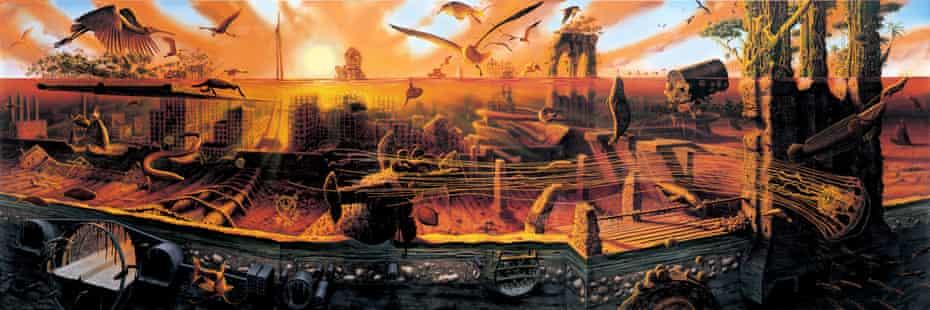Manifest Destiny painting by Alexis Rockman.