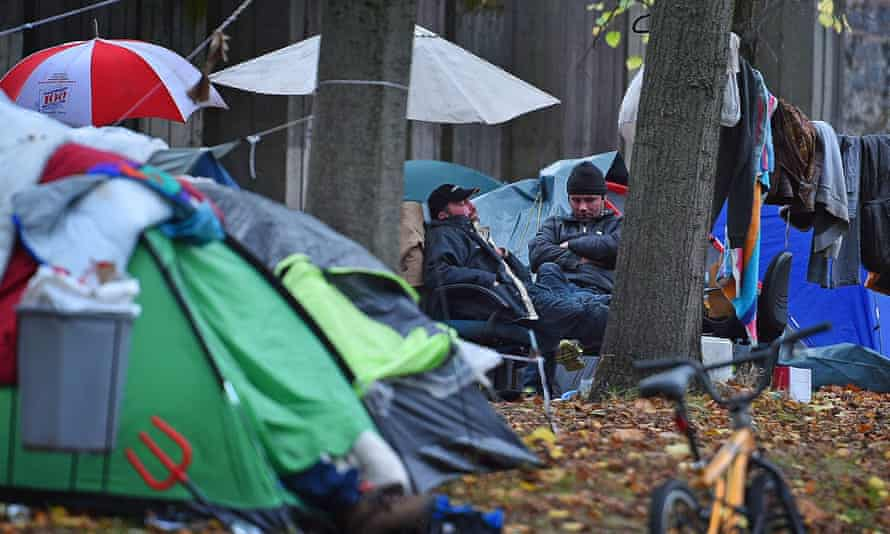 'It was really blowing up on a week-by-week basis: people living in tents …' homeless people in Manchester.