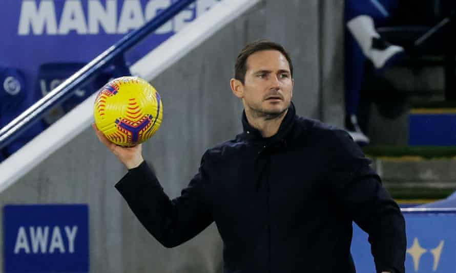 Frank Lampard at Leicester, where his Chelsea team suffered a fifth defeat in eight Premier League games.