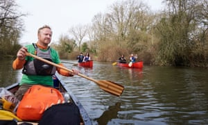 Canoeing on river in Kent