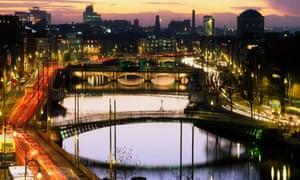 View over Dublin's financial centre.