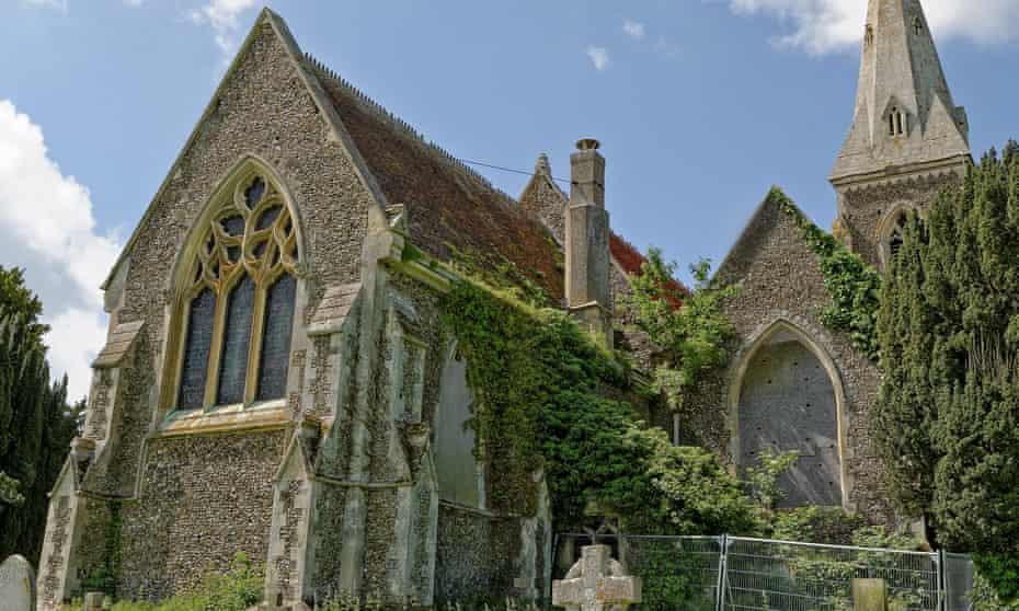 Derelict village church in Birch, Essex.