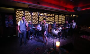 The Rakiem Walker Project perform at Ginny's Supper Club during Harlem EatUp!'s third annual festival, in 2017.