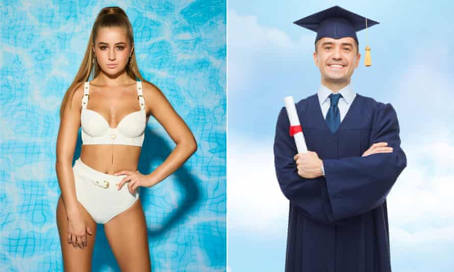 Love Island contestant and a university graduate