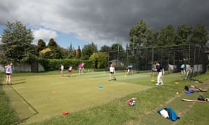 Members of the YMCA Cricket Academy during training session at Sandymount Dublin.
