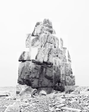 Soulèvement V Noémie Goudal, based in Paris, examines the relationship between truth and fiction, using mosaic-like fragments, to create an alternate view of landscape