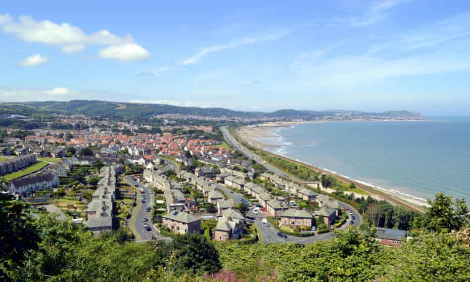An aerial view of Colwyn Bay in north Wales.