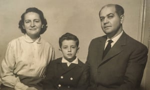 Catalina Adam with her son George and her husband