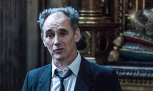 Mark Rylance at Westminster Abbey.