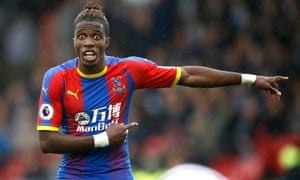 Wilfried Zaha is often fouled as part of a deliberate strategy