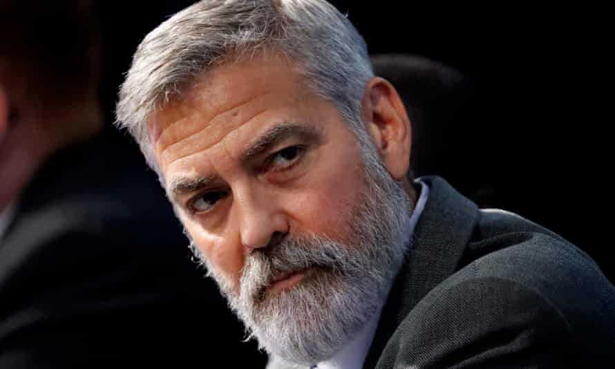 'Only one way to bring lasting change – vote' … George Clooney.